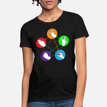 9df0f076 Rock Paper Scissors Nerd Rock Paper Scissors Lizard Shirt - Women's T.  Women's ...