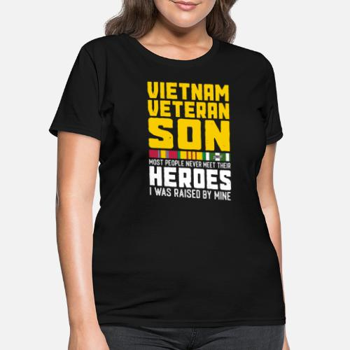 62194bf7 Proud T-Shirts - Vietnam Veterans Son Gift Proud Military Dad - Women's T-.  Do you want to edit the design?