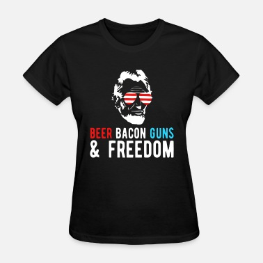 Beer Guns BEER BACON GUNS AND FREEDOM - Women's T-Shirt