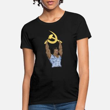 Soviet Union Russian Bear with Soviet Sickle and Hammer Sign - Women's T-Shirt