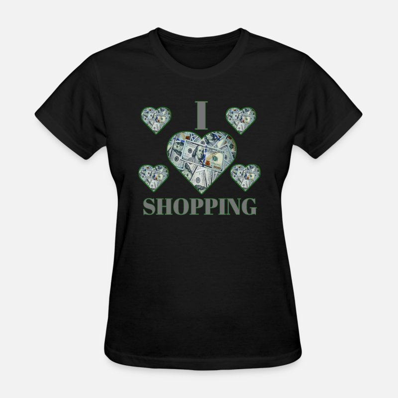 Shopping Frenzy T-Shirts - Shopping - Women's T-Shirt black