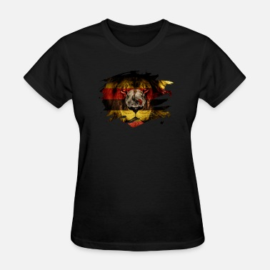 Lion Picture Uganda Flag & African Lion Picture - Women's T-Shirt