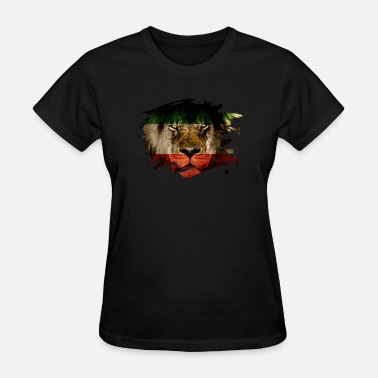 Persia Persia Flag & African Lion Picture - Women's T-Shirt