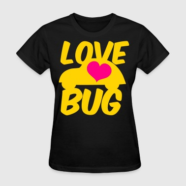 Love Bug Cars love bug with heart and funky little beetle car - Women's T-Shirt