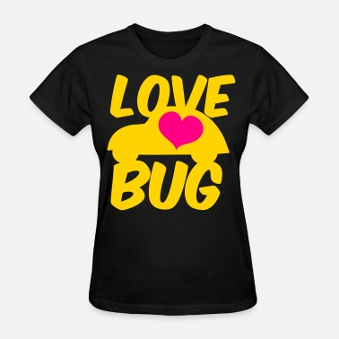 Beetle love bug with heart and funky little beetle car - Women's T-Shirt