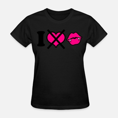 Funny Vampire Heart i dont heart vampires love - Women's T-Shirt