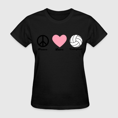 peace love and volleyball - Women's T-Shirt