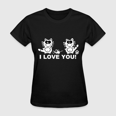 I love you Catpaw Design Cats Mouse Lover - Women's T-Shirt