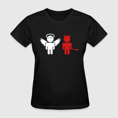 little angel, little devil - Women's T-Shirt