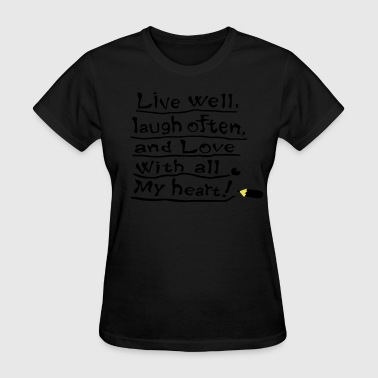 Love with all my heart  - Women's T-Shirt