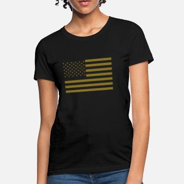 American Flag Subdued American Flag - Women's T-Shirt