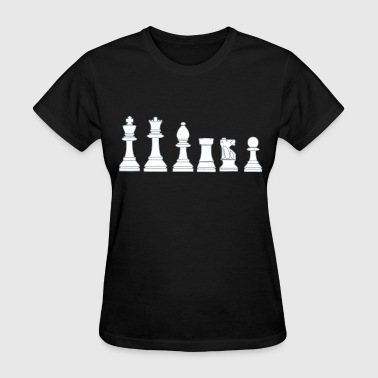 Pawns, chessmen, chess pieces - Women's T-Shirt