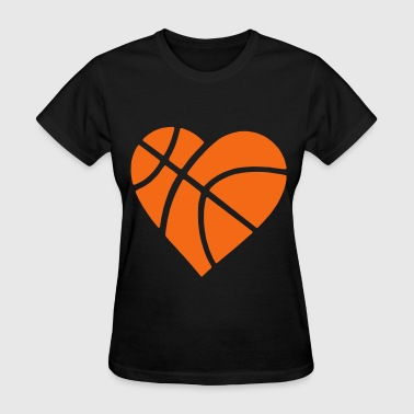 Heart Basketball - Women's T-Shirt