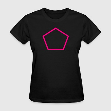 Pentagon Outline - Women's T-Shirt