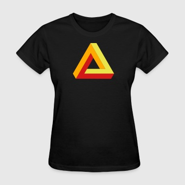 optical illusion - tribar - Women's T-Shirt