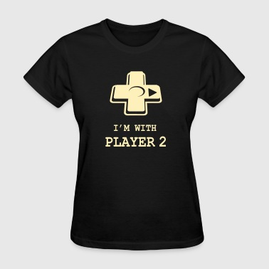 I'M WITH PLAYER TWO Couple - Women's T-Shirt