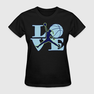 love_jump_women_plot - Women's T-Shirt