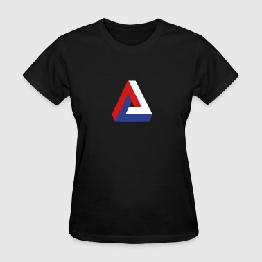 Optical illusion penrose triangle - Women's T-Shirt