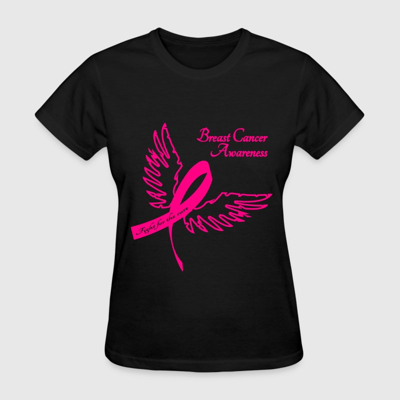 Breast Cancer Awareness Outline - Women's T-Shirt