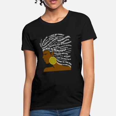 e1ef31a76 African American Black Woman Hair Word Art - Women's T-Shirt