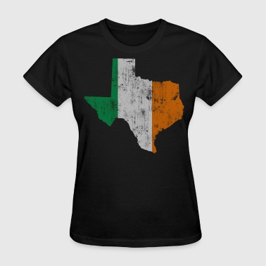 Texas Flag State Outline Irish Flag - Women's T-Shirt