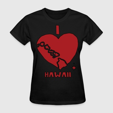 i heart Hawaii (red) - Women's T-Shirt