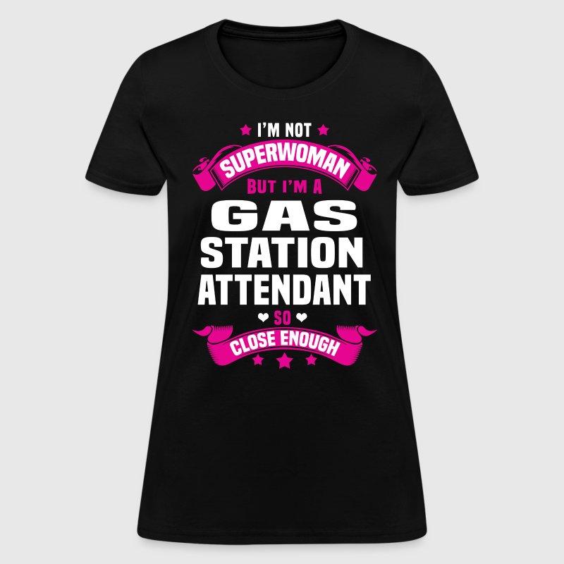 gas station attendant womens t shirt