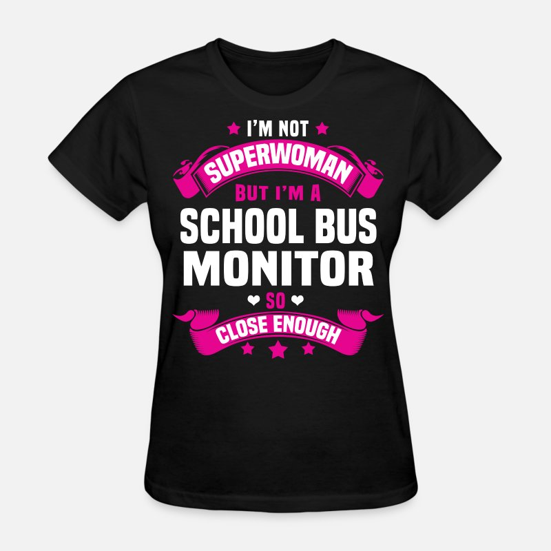 Super Woman T-Shirts - School Bus Monitor - Women's T-Shirt black