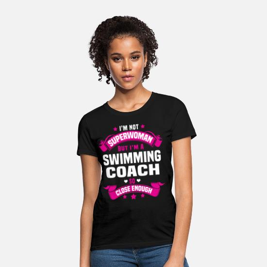 Swim T-Shirts - Swimming Coach - Women's T-Shirt black