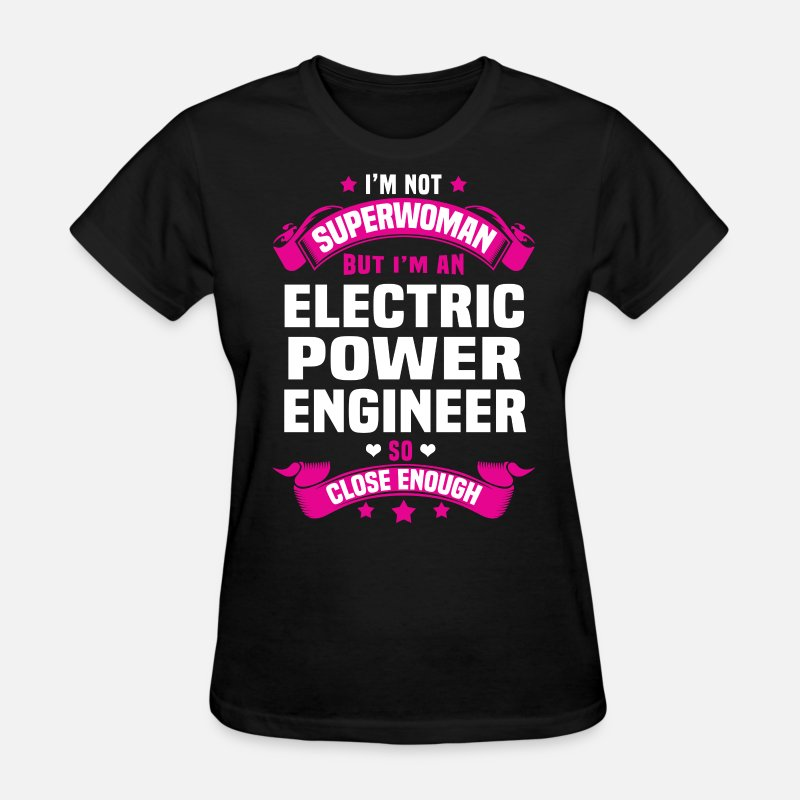Electrical Engineer Girl T-Shirts - Electric Power Engineer - Women's T-Shirt black