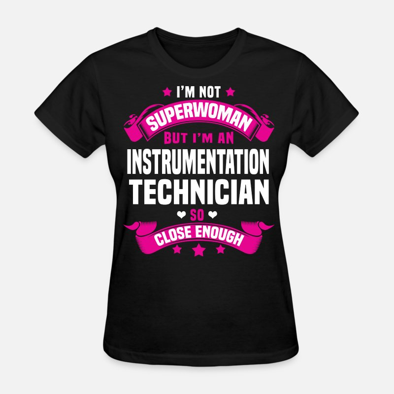 Super Woman T-Shirts - Instrumentation Technician - Women's T-Shirt black