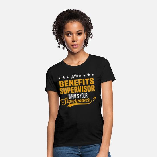 Superpower T-Shirts - Benefits Supervisor - Women's T-Shirt black