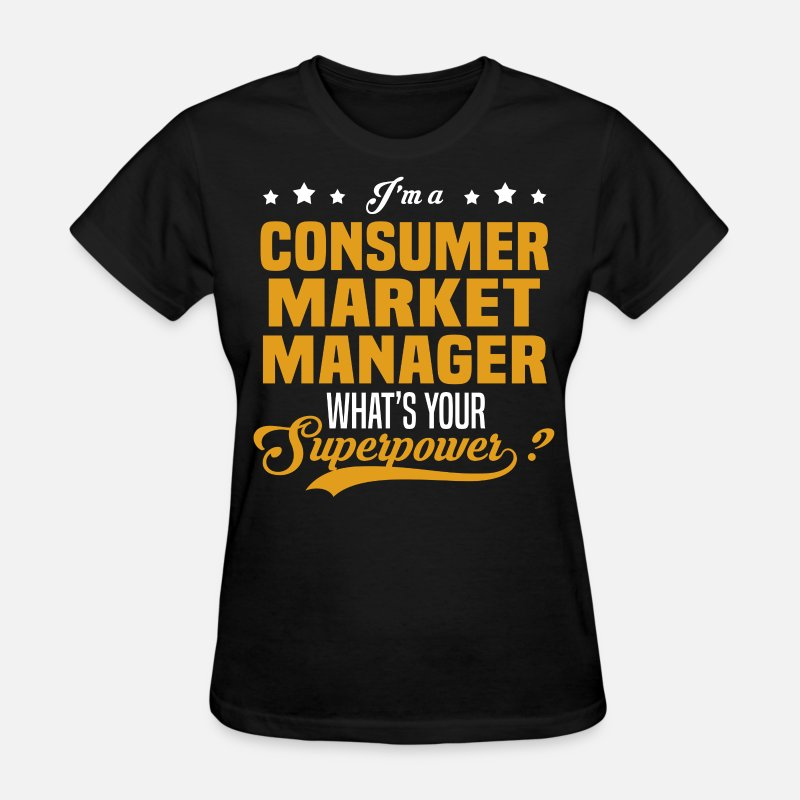 Superpower T-Shirts - Consumer Market Manager - Women's T-Shirt black