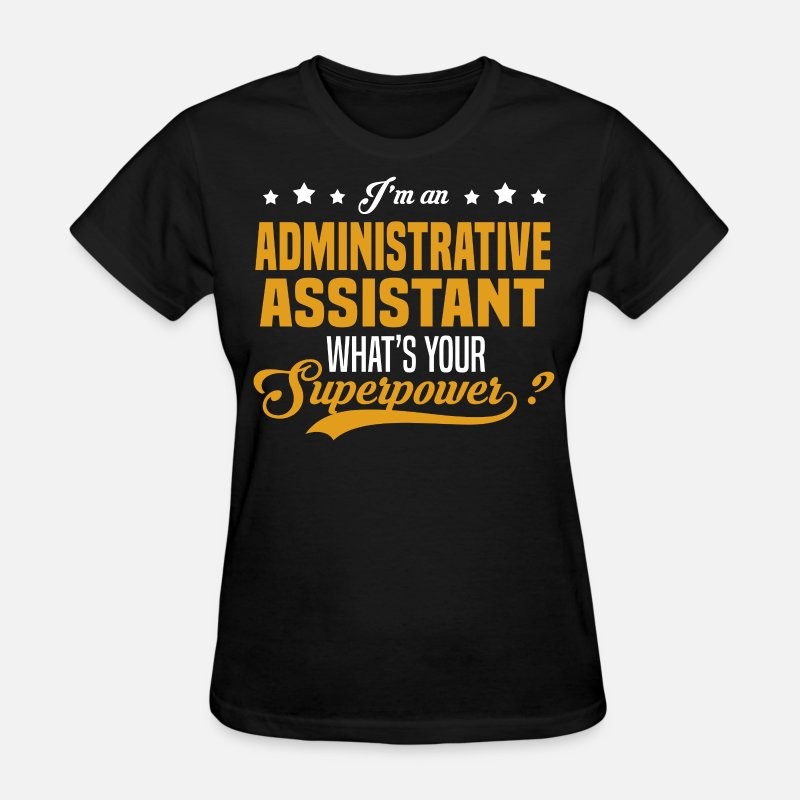 Superpower T-Shirts - Administrative Assistant - Women's T-Shirt black