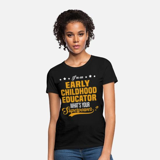 Early T-Shirts - Early Childhood Educator - Women's T-Shirt black