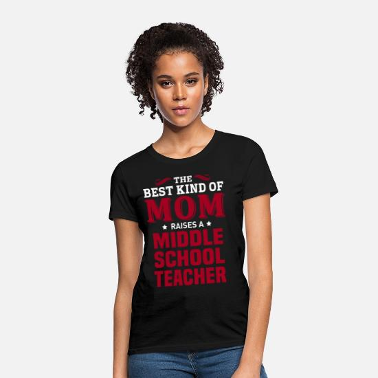 School T-Shirts - Middle School Teacher - Women's T-Shirt black