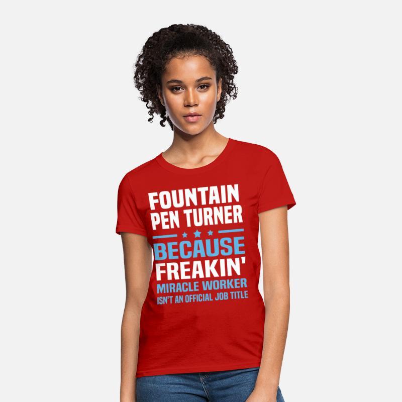 Fountain Pen Turner Women's T-Shirt - red