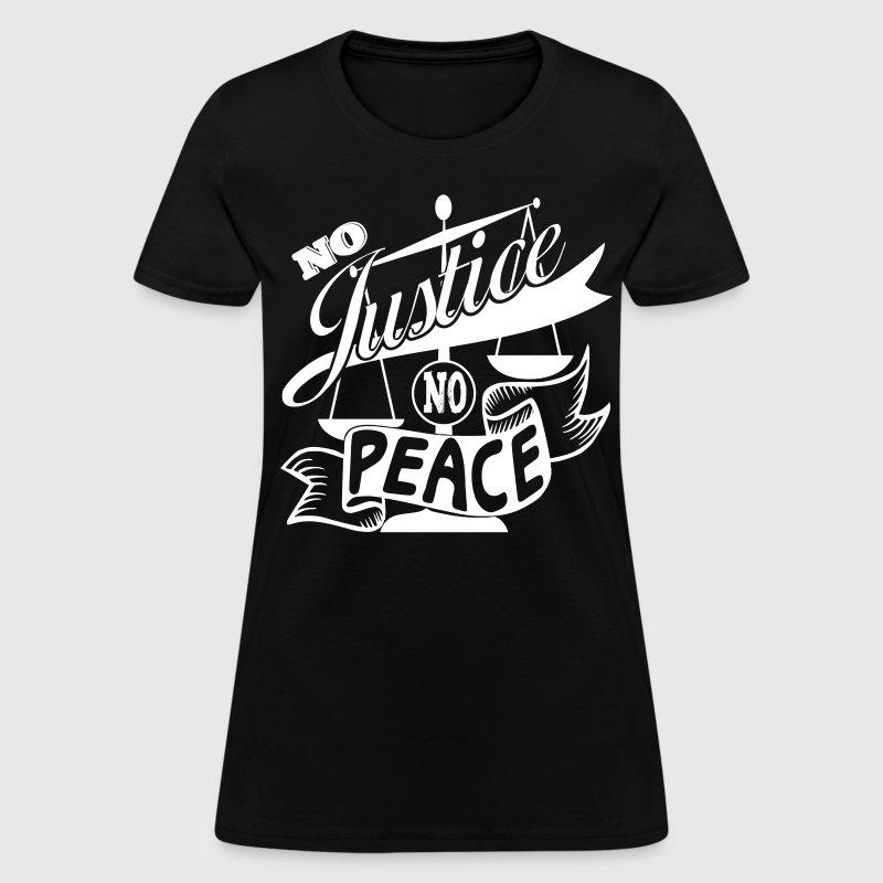 No justice no peace t shirt white design by ethos wear for T shirt design no minimum