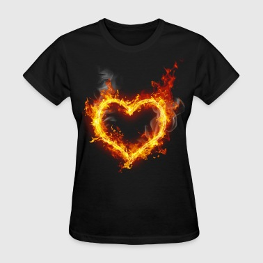 heart in flames - Women's T-Shirt