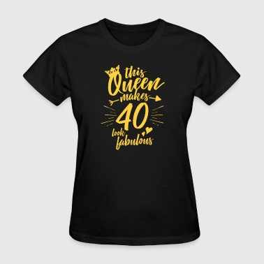 Women's 40th Birthday Shirt Forty and Fabulous  - Women's T-Shirt