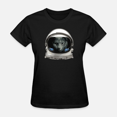 Astronaut Helmet Space Helmet Astronaut Cat - Women's T-Shirt