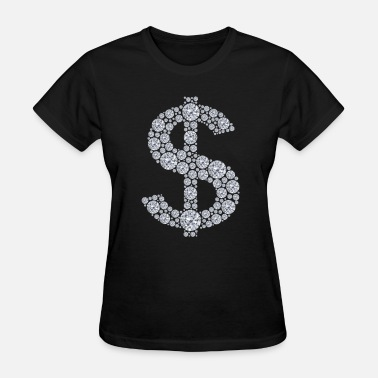 Swagalicious Diamond Dollar Sign Bling - Women's T-Shirt