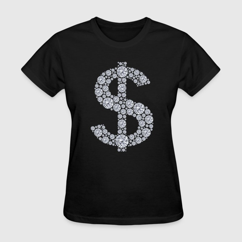Diamond Dollar Sign Bling - Women's T-Shirt