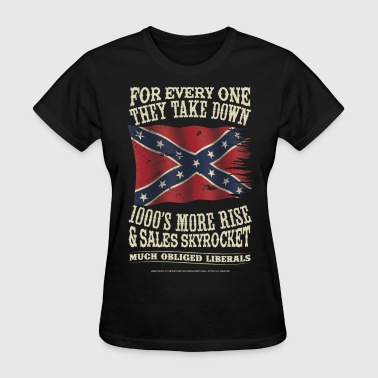 Confederate Battle Flag - Women's T-Shirt