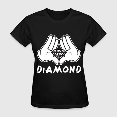 Illuminati Hip Hop Cartoon Hands Diamond most dope illuminati diamond - Women's T-Shirt