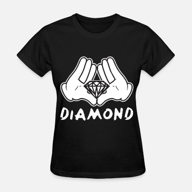 Cartoon Hands Dope Cartoon Hands Diamond most dope illuminati diamond - Women's T-Shirt