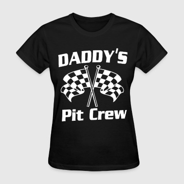 Tv Test Card Daddy s Pit Crew racing outfit racecar newborn bod - Women's T-Shirt