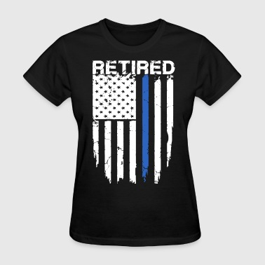 Brand American Apparel Funny retired police officer america - Women's T-Shirt