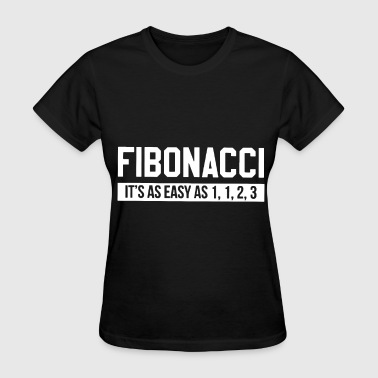Maths Baby Math Fibonacci it is as easy as one two three math - Women's T-Shirt