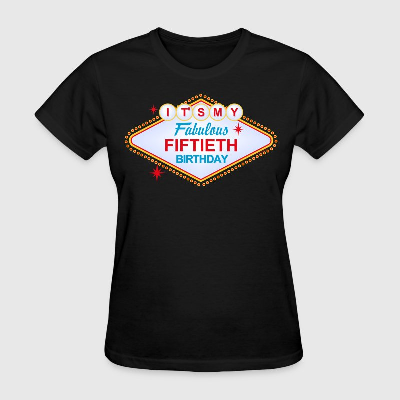 Las Vegas Birthday 50th Birthday - Women's T-Shirt